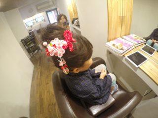 753 3歳のヘアアレンジ