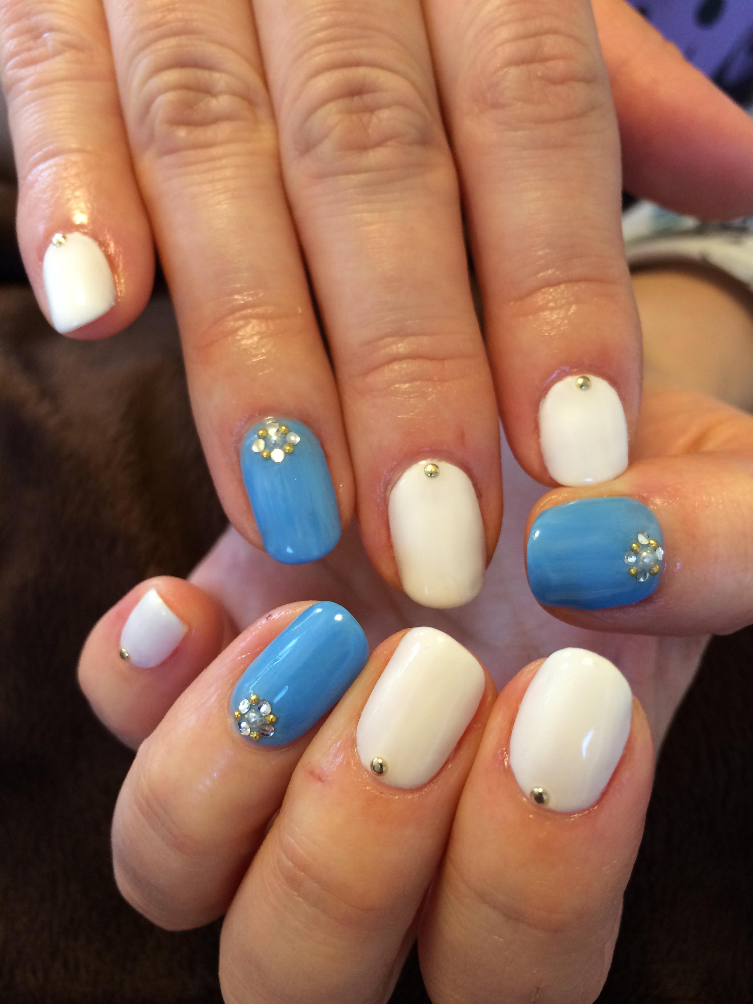 乳白色×オリジナルブルー