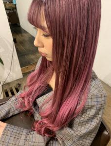 ネオンパープルピンクカラー【ブリーチ】