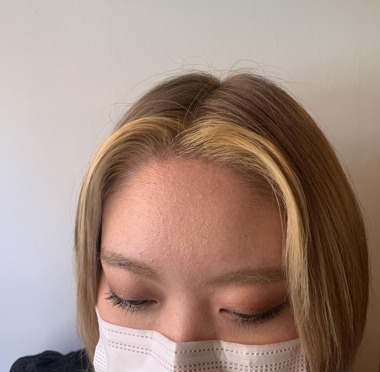 #前髪インナーカラー